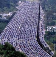 Traffic jam in China
