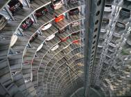 Volkswagen's Car Towers at Autostadt in Wolfsburg, Germany